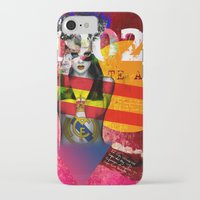 real madrid iPhone & iPod Cases featuring Real Madrid C.F. - Los Merengues by Silvia Qian