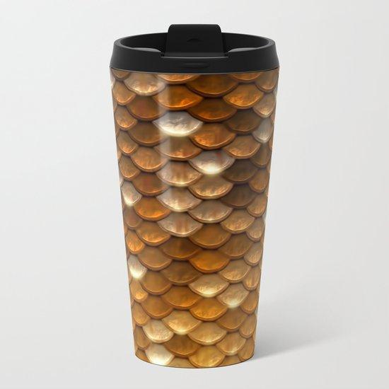 Gold glitter mermaid sparkling scales - Mermaidscales Metal Travel Mug