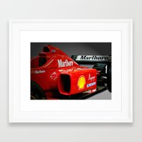 f1 Framed Art Prints featuring Ferrari F1 by cjsphotos