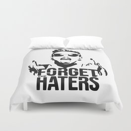 Miley Cyrus / Forget the haters Duvet Cover