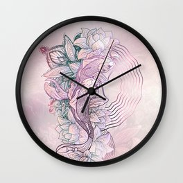 Koi Fish Mandala Wall Clock