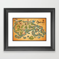 Hoenn Map Framed Art Print