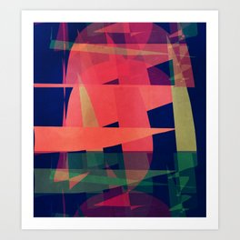 Wedges of Thought Art Print