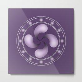 LAUBURU IN PURPLE (abstract geometric symbol) Metal Print