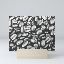 roasted coffee beans texture acrbw Mini Art Print