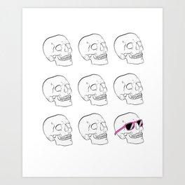 skull dudes / sunglasses Art Print