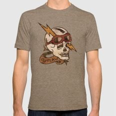 Old Timey Tattoo Design Mens Fitted Tee Tri-Coffee LARGE
