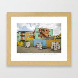 Conventillos in Caminito, Buenos Aires Framed Art Print