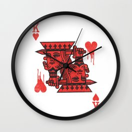 LOVE IS AN OPEN WOUND Wall Clock