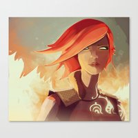 borderlands Canvas Prints featuring Borderlands - Lilith by BEN Olive