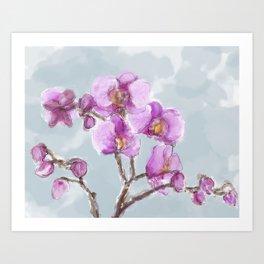 Watercolor Orchids Art Print