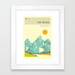 GRAND TETON NATIONAL PARK POSTER Framed Art Print