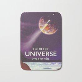 Tour the universe space travel poster Bath Mat