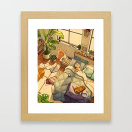 Afternoon Nap Framed Art Print