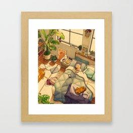 Afternoon Nap Gerahmter Kunstdruck