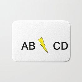 AB/CD Bath Mat