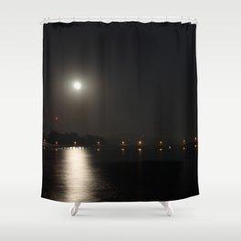 Full Moon Rise Shower Curtain