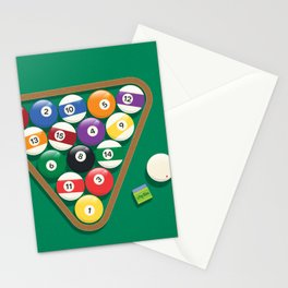 Billiard Balls Rack - Boules de billard Stationery Cards