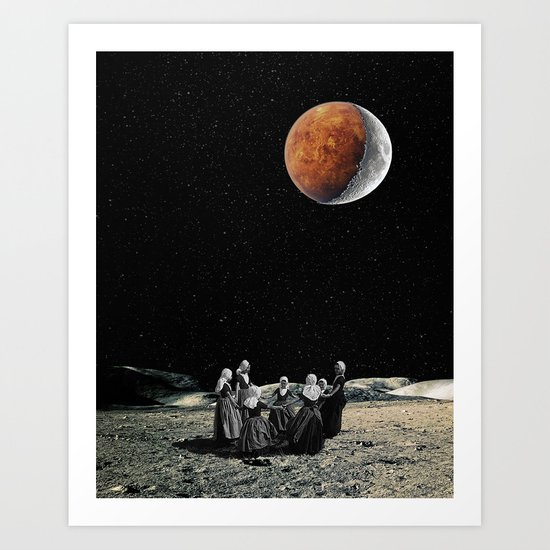 Celebration of the new Moon Art Print