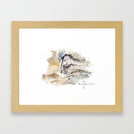 Cat Profile Framed Art Print