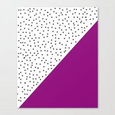 Geometric grey and purple design Canvas Print