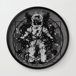 the Vitruvian astronaut Wall Clock