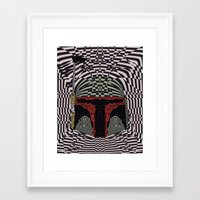 boba Framed Art Prints featuring Boba Effect by Fabian Gonzalez