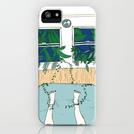 when the outside wants in, let it take you away. iPhone Case