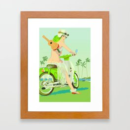 Ukulele Girl Framed Art Print