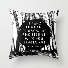 Courage (Designed for The YA Chronicles) Throw Pillow