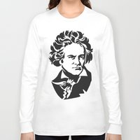 beethoven Long Sleeve T-shirts featuring Beethoven by b & c