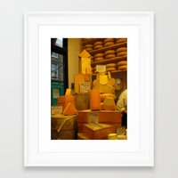 cheese Framed Art Prints featuring Cheese! by AuFish92024