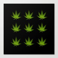 weed Canvas Prints featuring Weed by Spyck