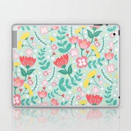 Flower Lovers - Green Laptop & iPad Skin
