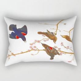 Red winged Starling, or Marsh Blackbird Rectangular Pillow