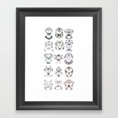 Monster Heads Framed Art Print