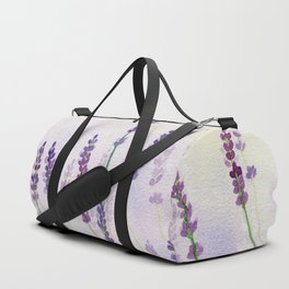Lavender Flowers Watercolor Duffle Bag