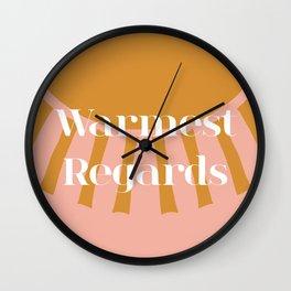 Warmest Regards Sunshine Wall Clock
