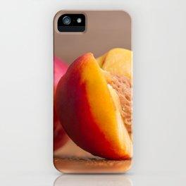 Nectarines on wood iPhone Case