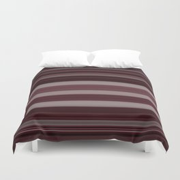 Plum Stripe Duvet Cover
