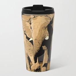 The Elephant's Marching Metal Travel Mug