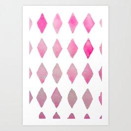 harlequin pink Art Print
