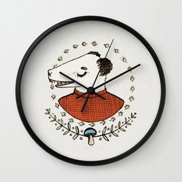AUTUMN TIME - colour Wall Clock