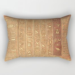 Ancient Script Rectangular Pillow