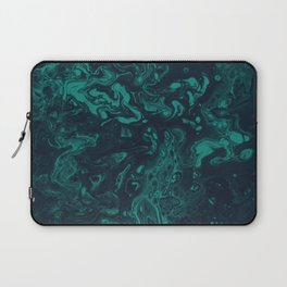 Teal Smoke - An Abstract Piece Laptop Sleeve