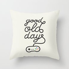 Good Old Days - Videogame Throw Pillow