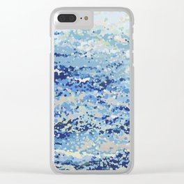Bubbling Ocean Waves- Afternoon Clear iPhone Case