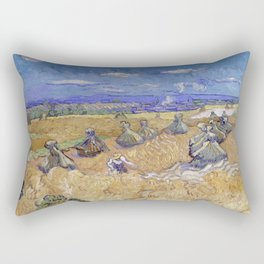 Vincent Van Gogh - Wheat Fields With Reaper, Auvers Rectangular Pillow