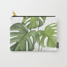Monstera deliciosa 3 Leaves Carry-All Pouch