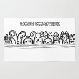 Work Monsters Rug